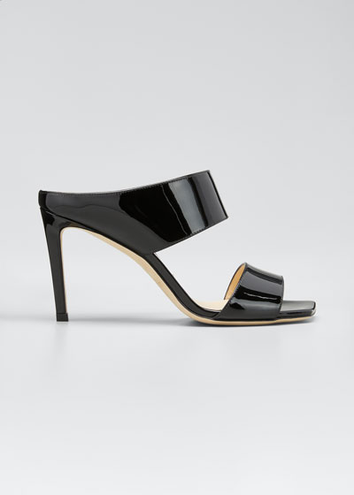 Hira Patent Slide Sandals
