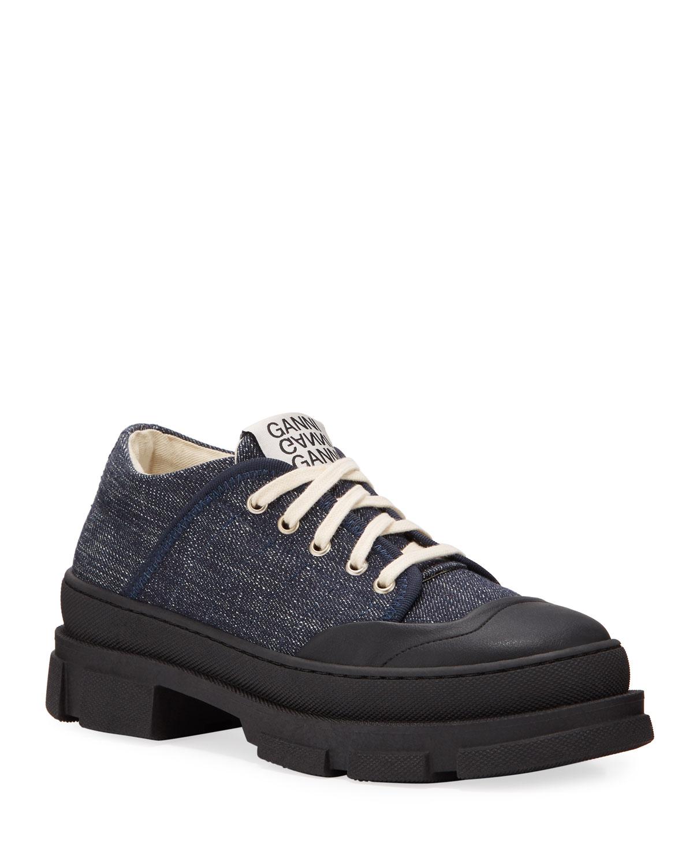 Ganni Sneakers HYBRID DENIM CANVAS SNEAKERS