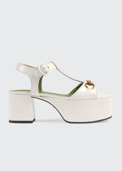 Houdan Leather Flatform Sandals