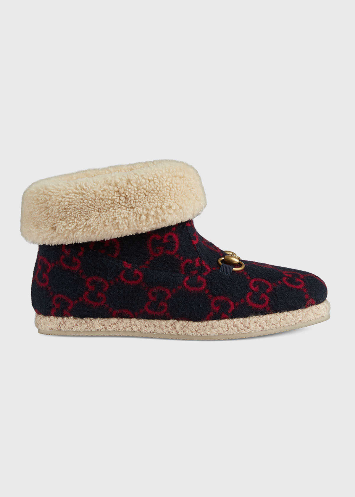 Gucci Boots FRIA GG WOOL BOOTIES