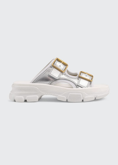 Aguru Open  2-Buckle Slide Sandals