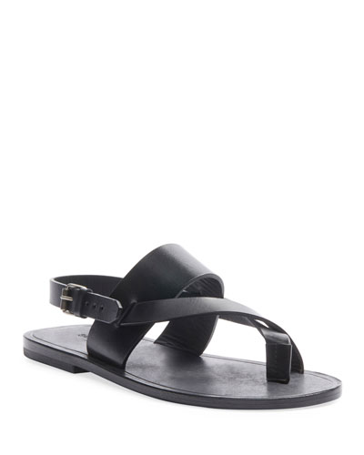 Culver Flat Leather Buckle Sandals