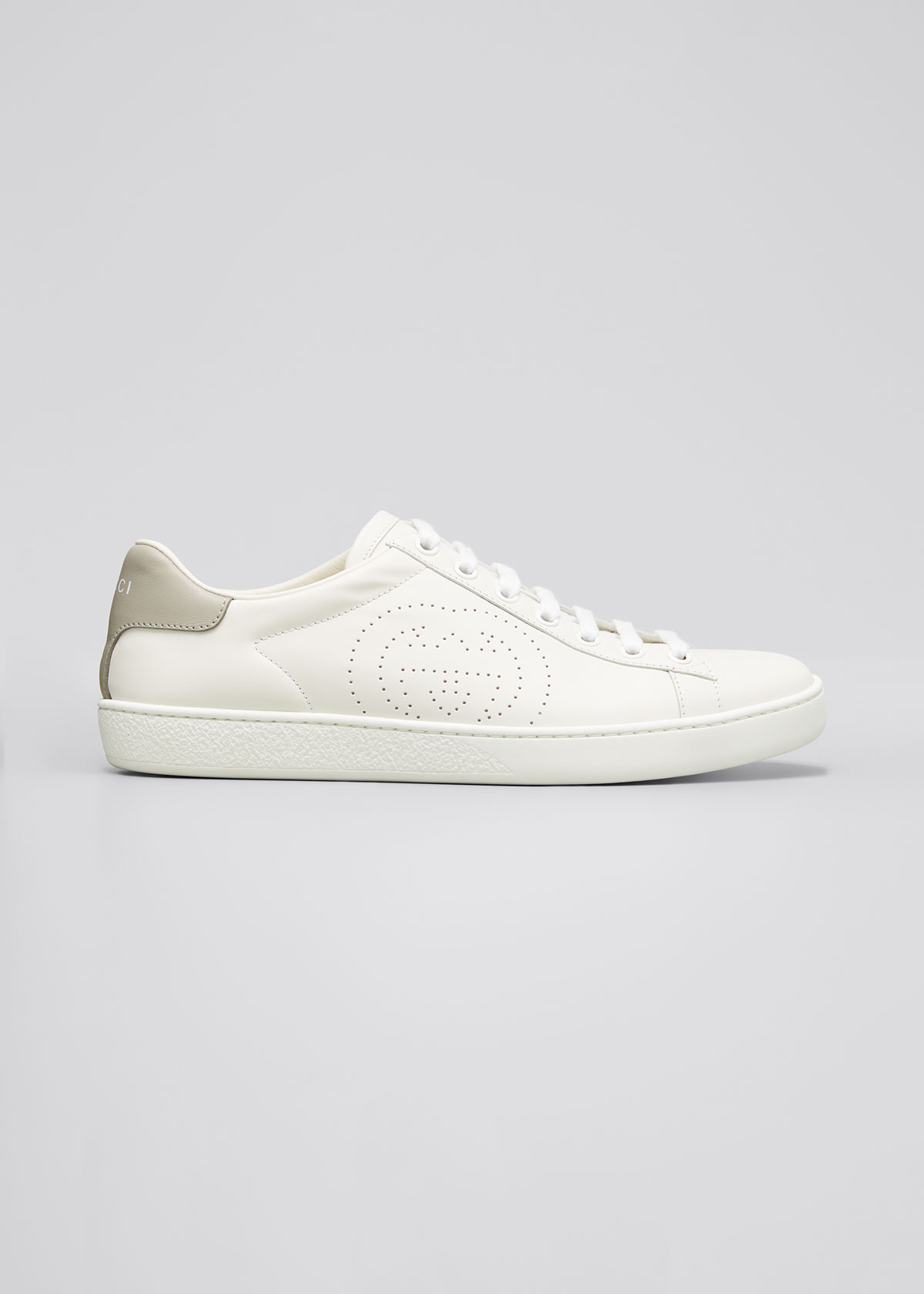 Gucci Sneakers NEW ACE PERFORATED LEATHER SNEAKERS