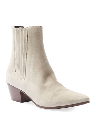 West Suede Chelsea Western Booties