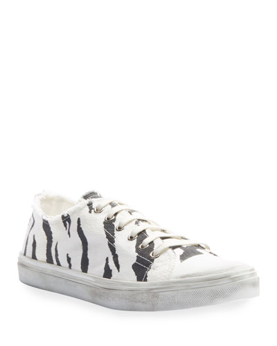 Bedford Zebra-Print Canvas Low-Top Sneakers