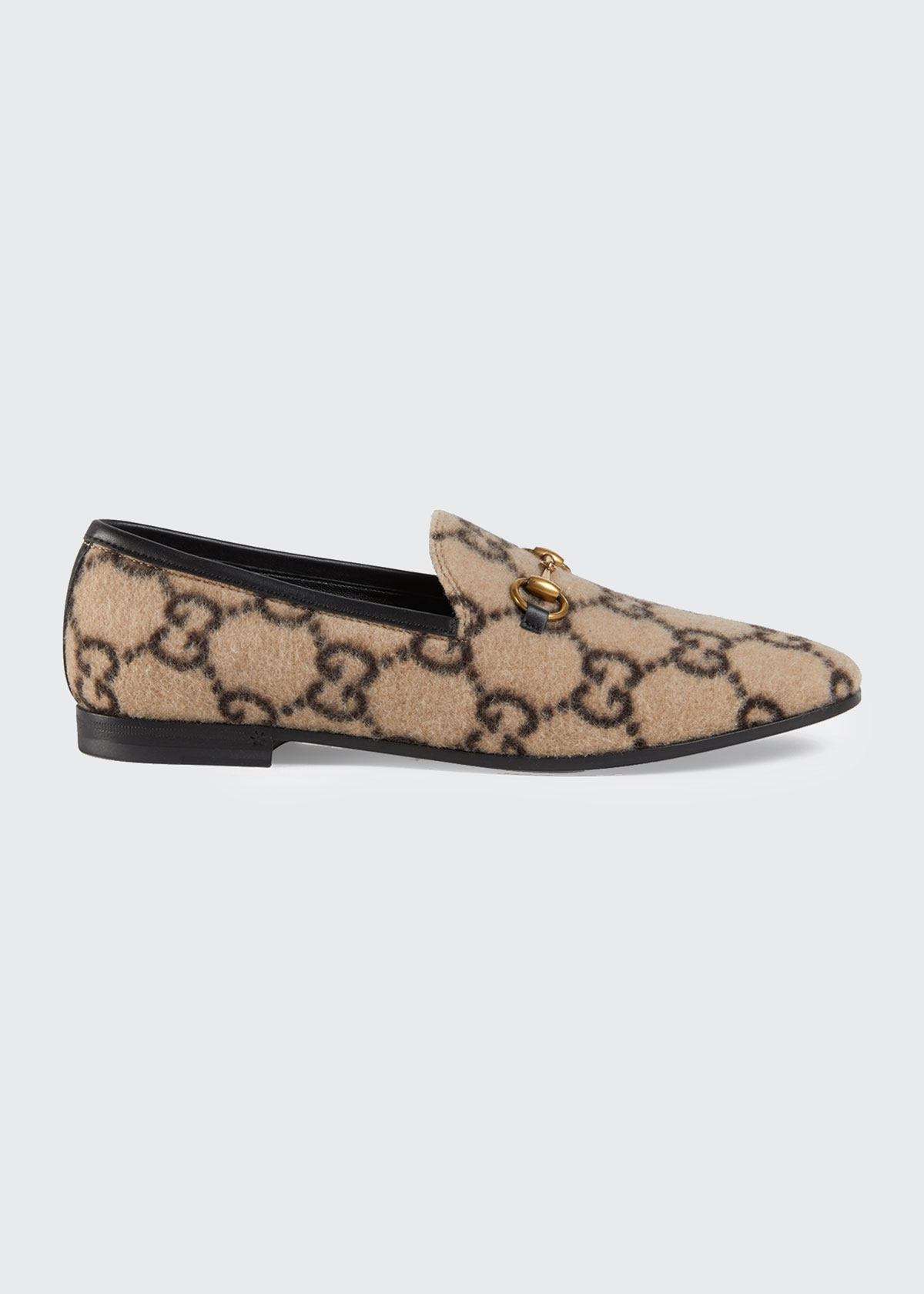 Gucci Flats JORDAAN FLAT GG FLANNEL LOAFERS