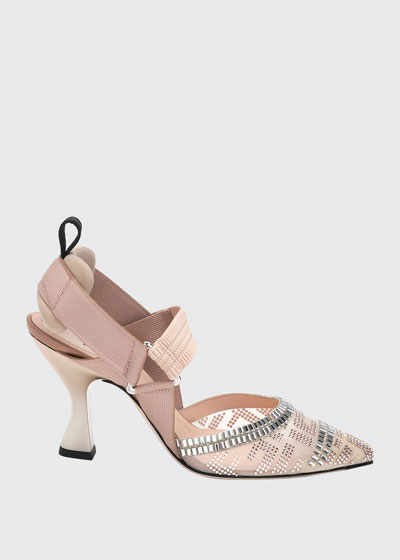 Colibri 85mm FF Embellished Slingback Pumps
