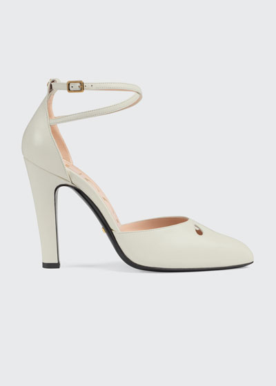 Indya 105mm Leather Ankle-Strap Pumps