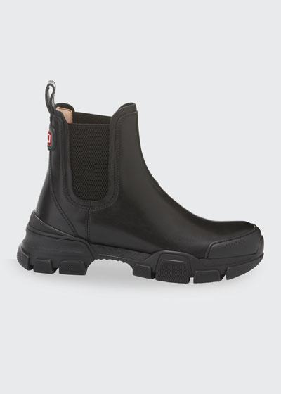 Leon Leather Slip-On Booties