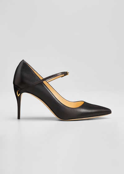 Lorenzo Leather Point-Toe Pumps