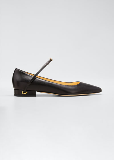 Lorenzo Leather Point-Toe Flats