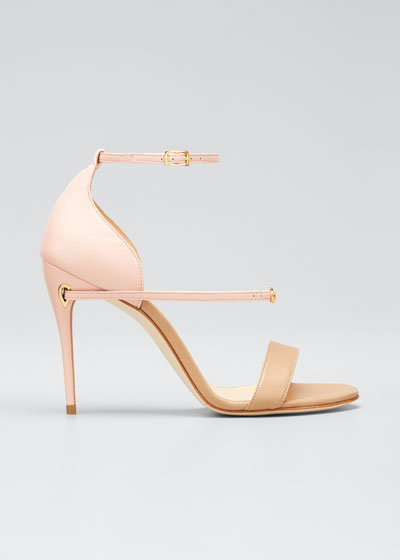 Rolando Leather Ankle-Strap Sandals