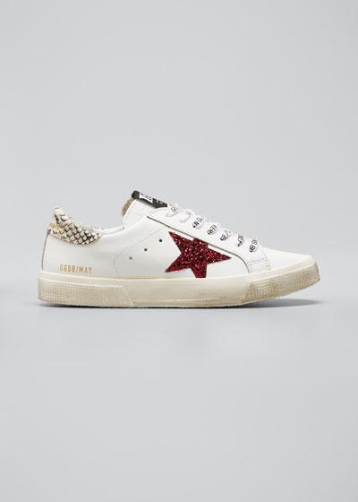 Glitter Star Low-Top Sneakers
