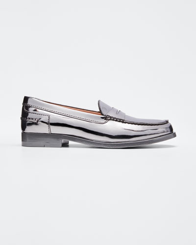 Alber Moccasino Metallic Loafers