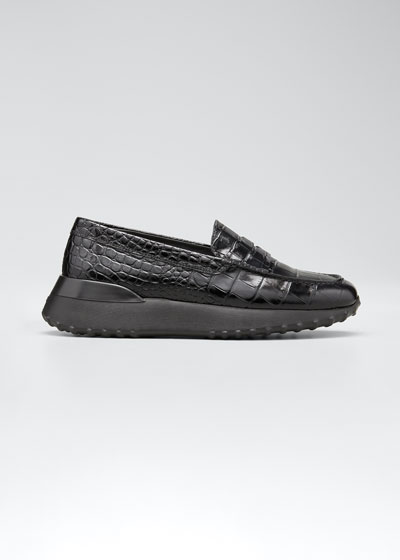 Fondo Sport Moccasino Printed Leather Loafers