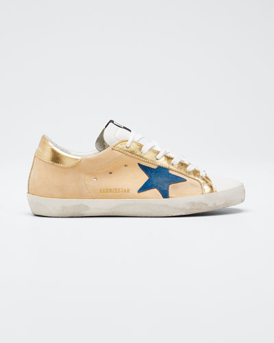 Superstar Gold Leather Low-Top Sneakers
