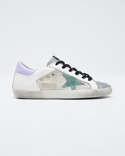 Superstar Glitter Flat Sneakers