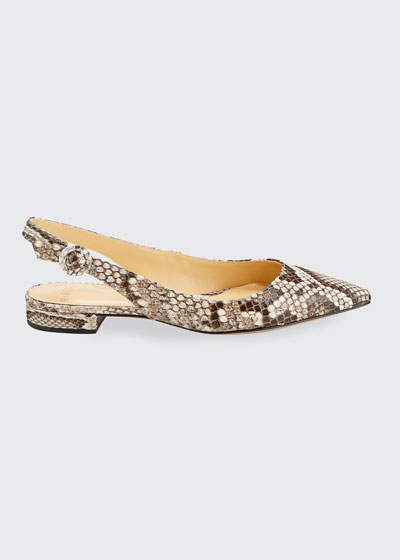 Python Slingback Ballerina Flats