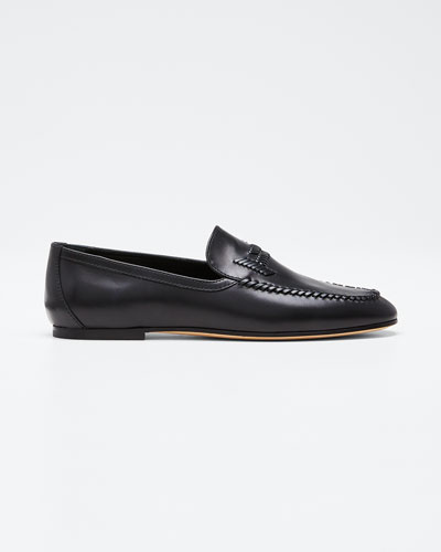 Selleria Woven Leather Loafers