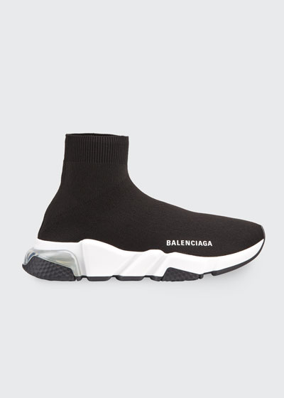 Contrast Logo Speed Sock Sneakers