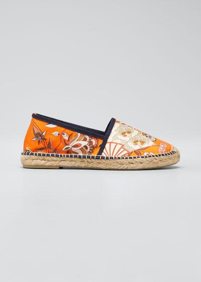 Ampara Floral-Print Flat Espadrilles