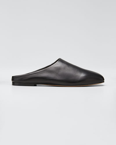 Glider Leather Slide Mules