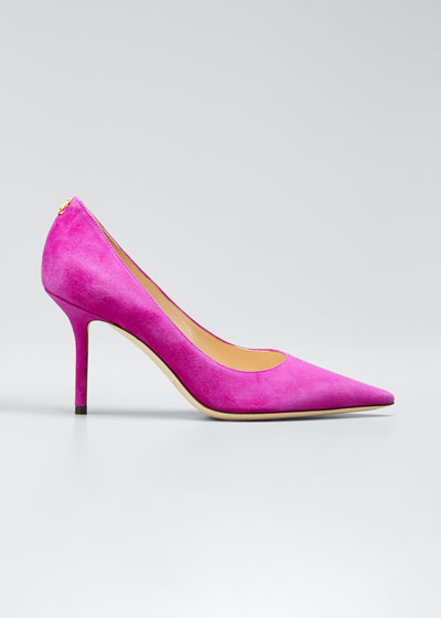 Love Suede Pointed-Toe Pumps