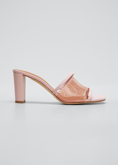 Demi 70mm PVC Woven Metallic Mule Sandals