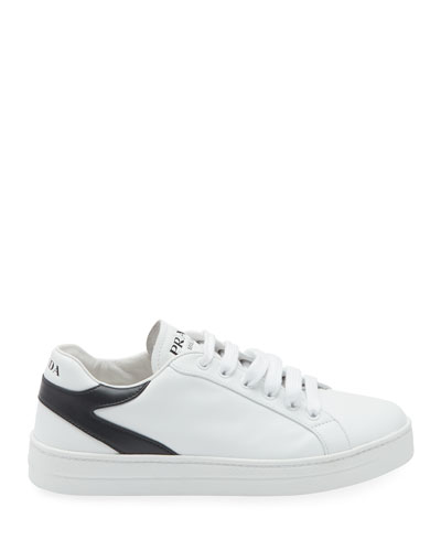 Bicolor Leather Low-Top Sneakers