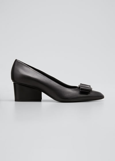 Viva Leather Bow Pumps