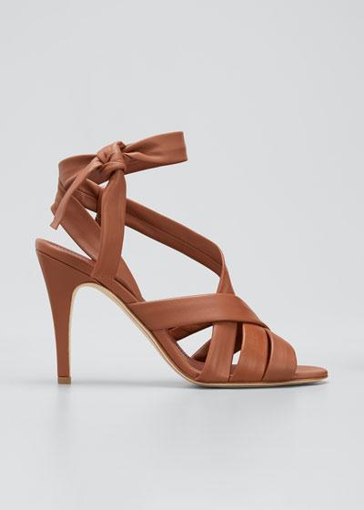 Aida Ankle-Wrap Stiletto Sandals