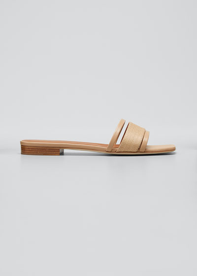 Demi Raffia Slide Sandals