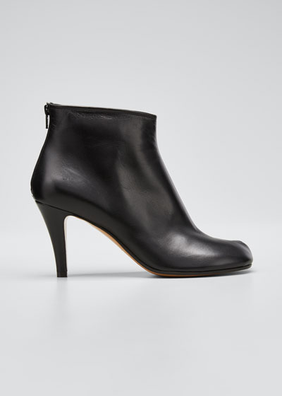 Tabi Stiletto Leather Back-Zip Booties