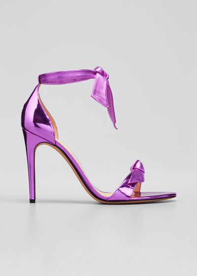 Clarita Metallic Knotted Leather Sandals