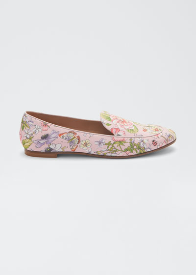 Purist Floral-Print Flat Loafers