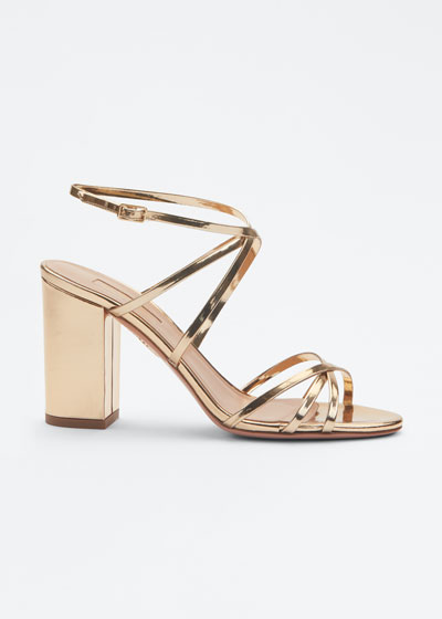 Gin 85mm Metallic Leather Sandals