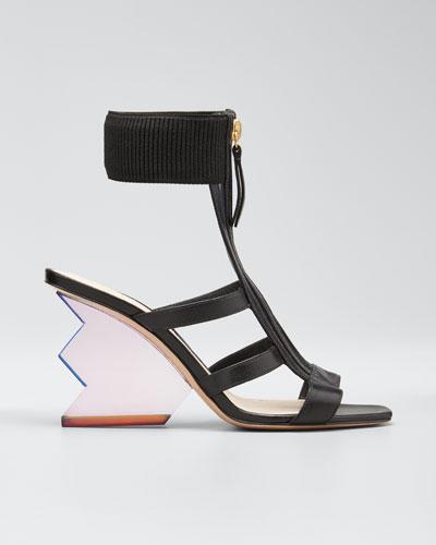 Aurora Ankle-Cuff Cage Sandals