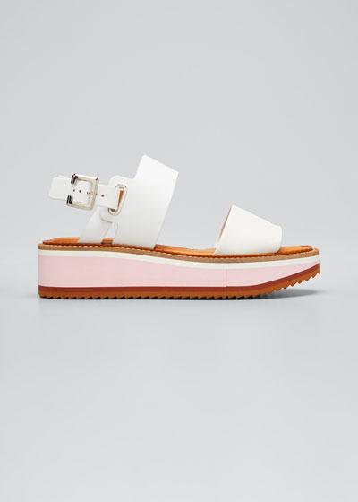 Two-Band Slingback Platform Sandals
