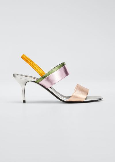 Alpha Party Metallic Slingback Sandals