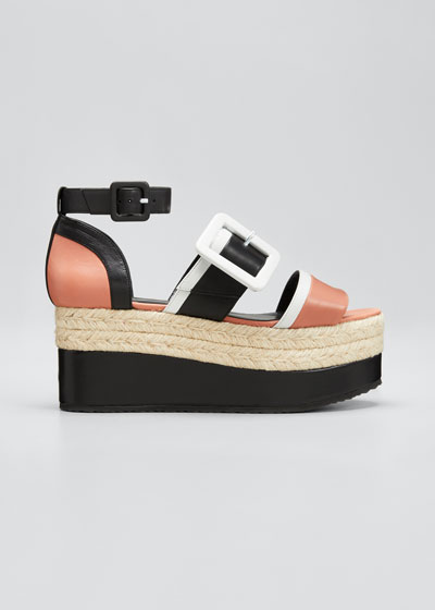 Alphasun 80mm Colorblock Platform Espadrilles