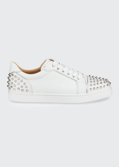 Viera 2 Spikes Leather Low-Top Sneakers