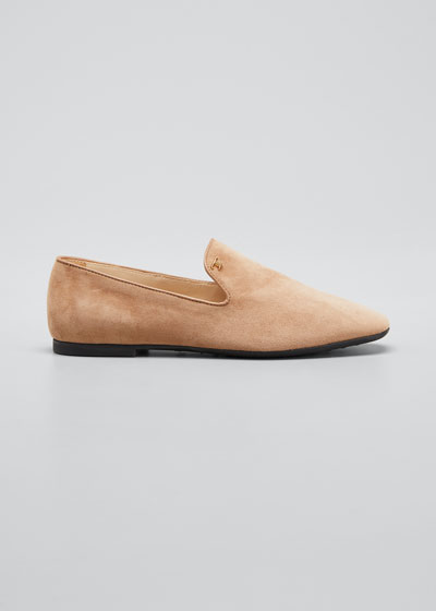 20mm Suede Flat Loafers