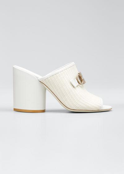 Robins Raffia Link Slide Sandals