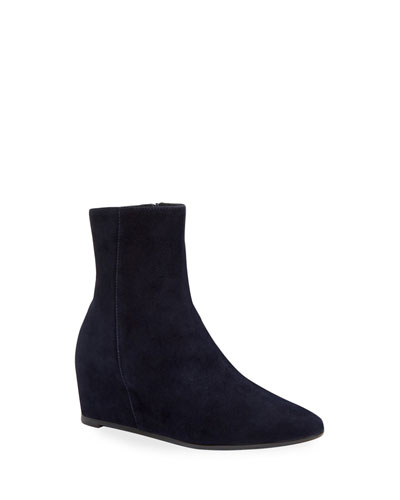 Palmer Low Wedge Suede Booties
