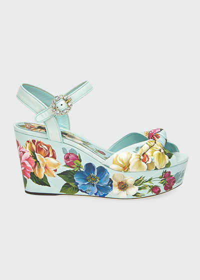 Blooming Floral 50mm Leather Sandals