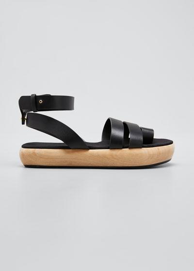Grobya Toe Ring Wood-Heel Sandals