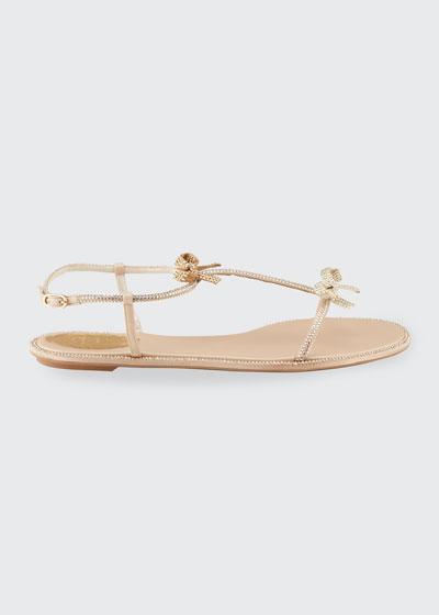 Flat T-Strap Bow Sandals