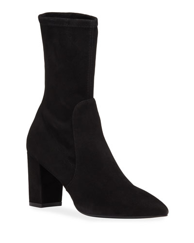 Landry Stretch Suede Booties