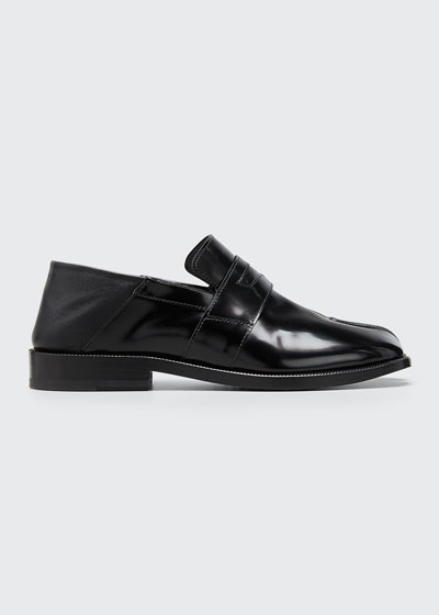 Tabi Split-Toe Leather Loafers