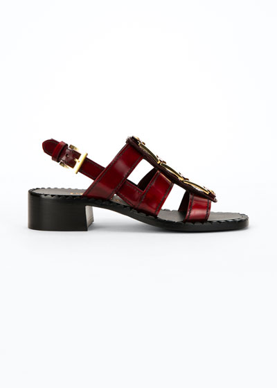 40mm Gladiator Leather Sandals